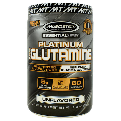 100% Platinum Glutamine, Unflavored, 60 Servings (10.58 oz)