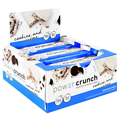 Power Crunch, Cookies And Creme, 12-1.4 oz Cookies