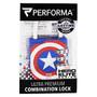 Combination Lock, Captain America, 1 Lock