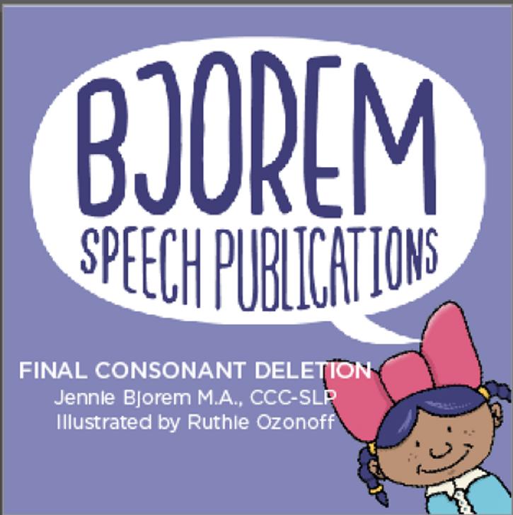 Bjorem Speech Final Consonant Deletion