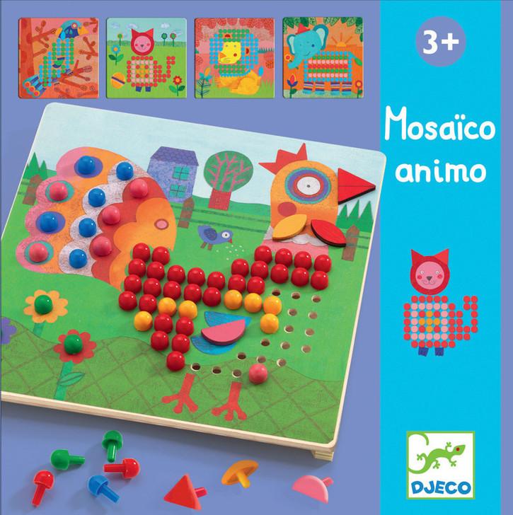 Animal Mosaic Peg Board