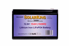Solarking 12.8V 15AH Lithium LiFePo4 Battery