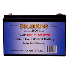 100AH Lithium SolarKing Battery CB-100-12-100