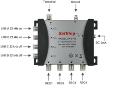 5 in 4 out Multiswitch