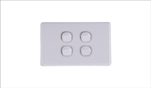 Four Gang Two Way Switch 16Amp Horizontal