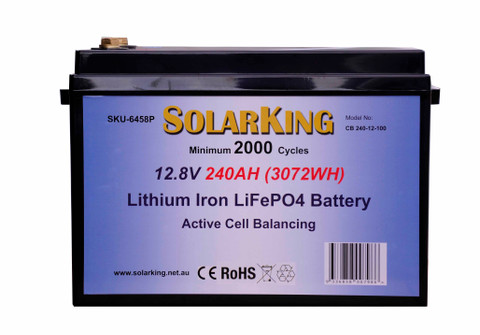 240AH Lithium Iron SolarKing Lithium Battery CB-240-12-100