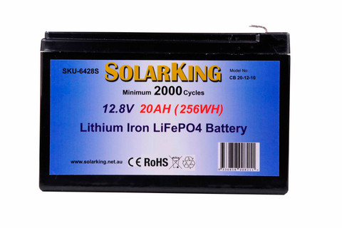 Solarking 12.8V 20AM Lithium Battery CB-20-12-10