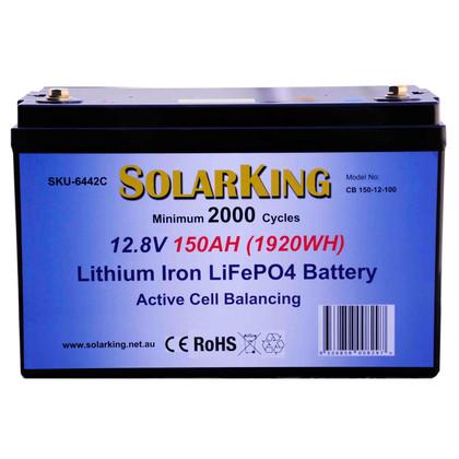 SolarKing 12.8V 150AH Lithium LiFePo4 Battery
