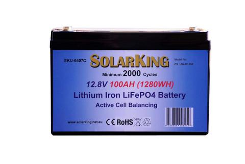 SolarKing 100AH Lithium Battery CB-100-12-100