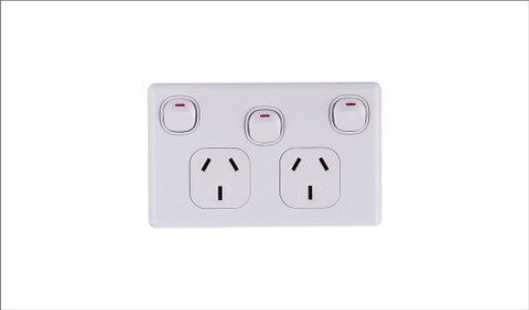 10Amp Double Power Point with extra 16Amp Switch