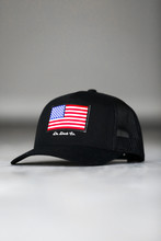 DR. DUCK CO. AMERICAN FLAG PATCH TRUCKER HAT