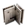 Titan 90° Glass to Glass Shower Door Hinge, Brushed Nickel - OGS Part # SDH-1337N, Image 6