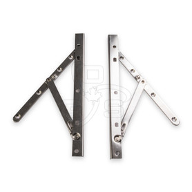 "2 Bar, 10"" Standard Assembled Casement Hinge (Stainless Steel)"
