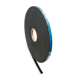 "Norton Double-Sided Structural Glazing Foam Tape (Black), 1/4"" x 3/8"" x 50'"