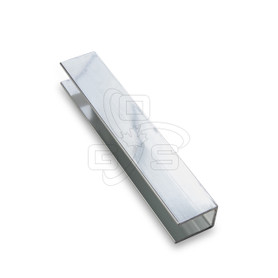 "U Channel, (For 10mm Glass) 1/2"" x 3/4"" x 8'"