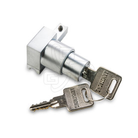 Showcase Lock, (Deluxe Type) Satin Alum. Key #1