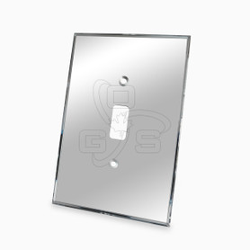Decora, Single Switch Mirror Plate, Grey