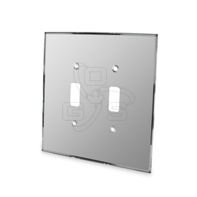 Decora, Double Switch Mirror Plate, Grey