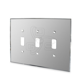 Decora, Triple Switch Mirror Plate, Grey
