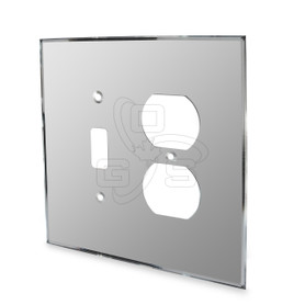 Switch & Duplex Combo Mirror Plate