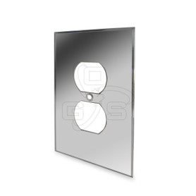 Decora, Duplex Mirror Plate, Grey