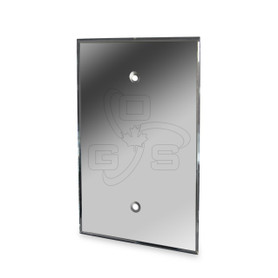 Decora Acrylic Blank Mirror Plate, Grey