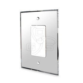 Decora, Acrylic Single Rocker Switch Mirror Plate. Grey