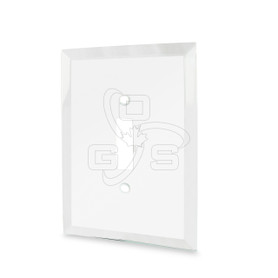 Decora, Glass Single Toggle Switch Mirror Plate, Clear
