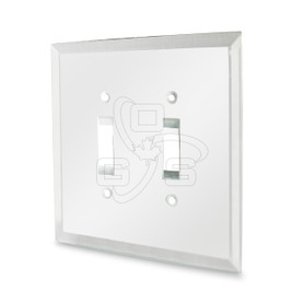 Decora, Double Toggle Switch Mirror Plate, Clear