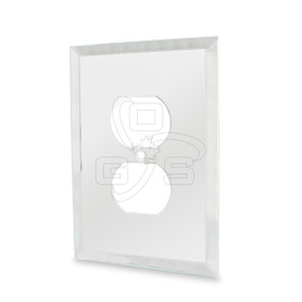 Decora, Glass Duplex Mirror Plate, Clear