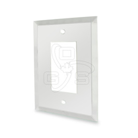 Decora, Glass Single Rocker Switch Mirror Plate, Clear