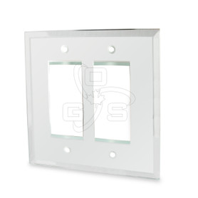 Decora, Glass Double Rocker Switch Mirror Plate, Clear