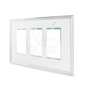 Decora, Glass Triple Rocker Switch Mirror Plate, Clear