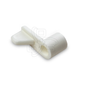 "White Plastic Turn Clips, 5/16"""