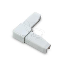 "Screen Bar Corner, White Plastic 5/16"""