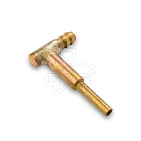 Image of Wood's Powr-Grip (53124) Pad Fitting - Elbow - High Flow - Smooth - Long Stem - OGS Part # WPG-53124