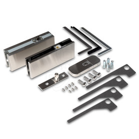 Alva EN3 Patch Fitting Non Hold Open (Self Closing) Set, Brushed Nickel - OGS Part # CDH-5400, Image 1