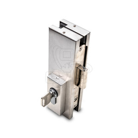 Patch Fitting Lock for Bottom Of Door Floor, Stainless Steel - OGS Part # CDH-7100, Image 1