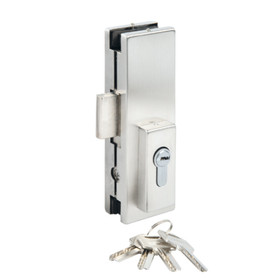 Bohle Glass Door Middle Lock with Flat Bolt US20, OGS Part CDH-7120, Image 1