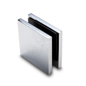 Titan Hardware 90° Single Hole Glass Clamp, Chrome - OGS Part # SDH-3420C, Image 1