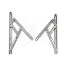Truth Standard Duty 4-Bar (401 Series) Casement Window Hinges, Pair, OGS, WH-6165