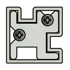 Sleek Line Glass COVID19 Barrier Partition Corner Divider Post Profile Image 1