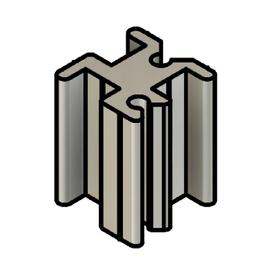 Sleek Line Glass COVID19 Barrier Partition Divider Post Aluminum Base Profile Image
