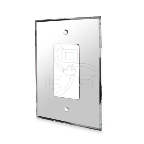 Decora, Acrylic Single Rocker Switch Mirror Plate. Grey
