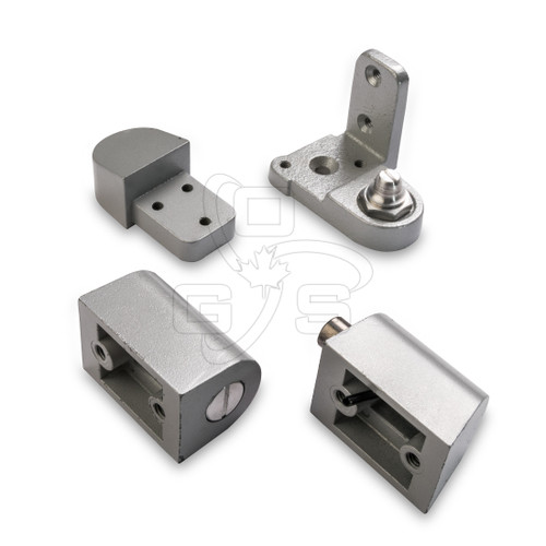 Image of Commercial Door Pivot Set (#500) Left Hand (Swing Out) Spring Loaded Top Pin - OGS Part # DH-500LH/AL