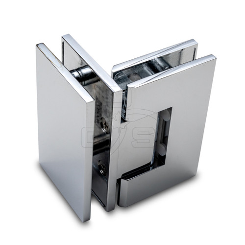 Titan 90° Glass to Glass Shower Door Hinge, Chrome - OGS Part # SDH-1337C, Image 1