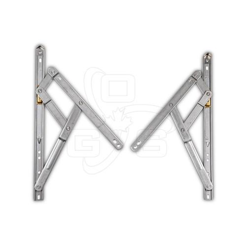 Truth Standard Duty 4-Bar (401 Series) Casement Window Hinges, Pair, OGS, WH-6165