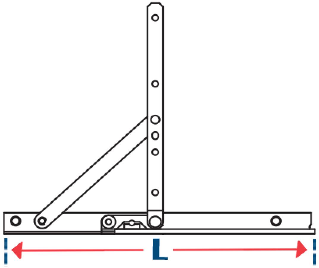 Truth Hardware Standard Duty Window Hinge Measurement Dimensions Image | OGS - Ontario Glazing Supplies