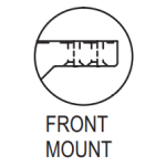 Truth 23 Series Front Mount (23.01) Casement Window Operator Details Chart