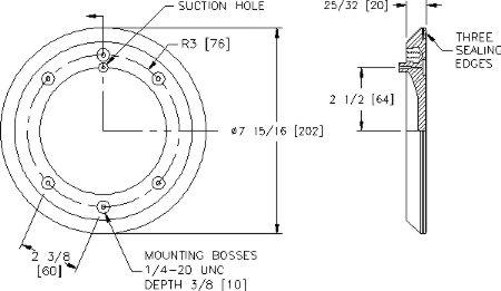 Wood's Powr-Grip 49486T G0695 Vacuum Pad Schematic